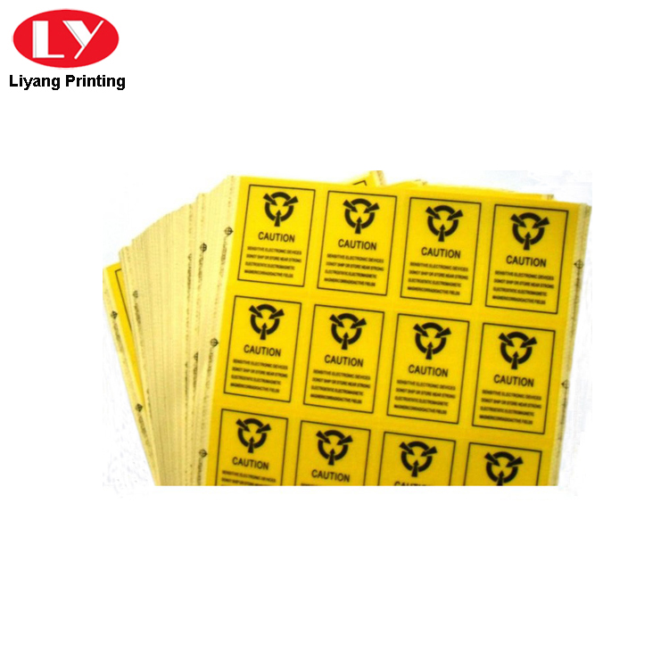 Adhesive Warming Label Sticker