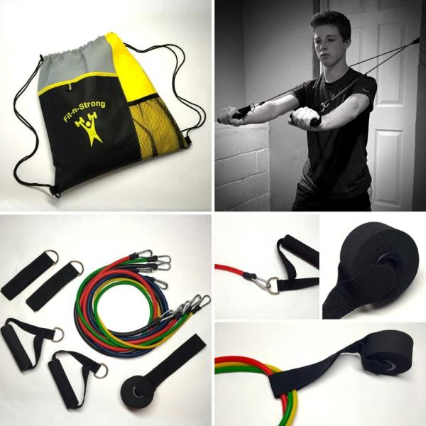 Nylon Covered Custom Resistance Exercise Band