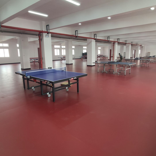 PVC table tennis floor with ITTF certificate