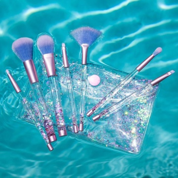7pcs Liquid Glitter Handle Makeup Brush Set
