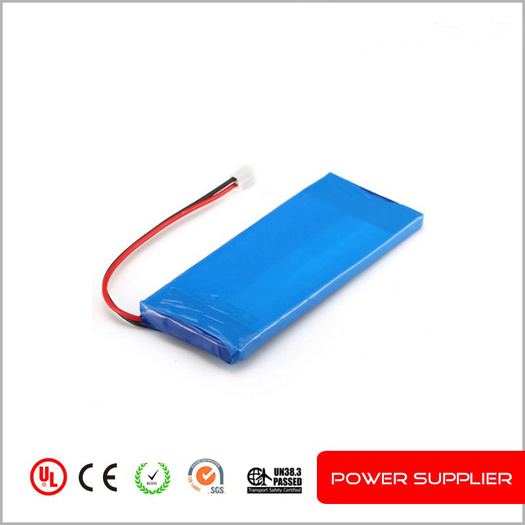 Rechargeable lithium polymer battery 266783 3.7v