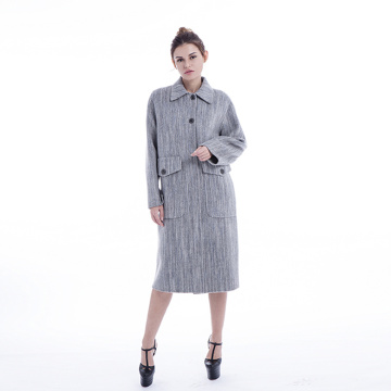 Ladies gray classic Cashmere overcoat