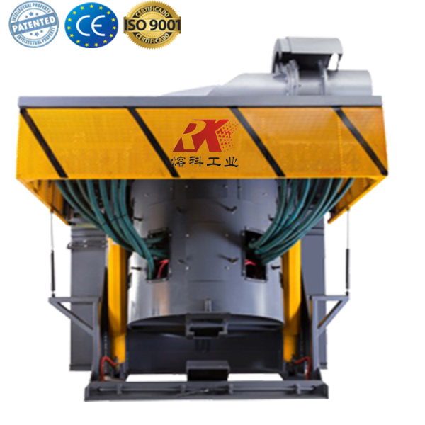 Casting metal melting induction electric furnace