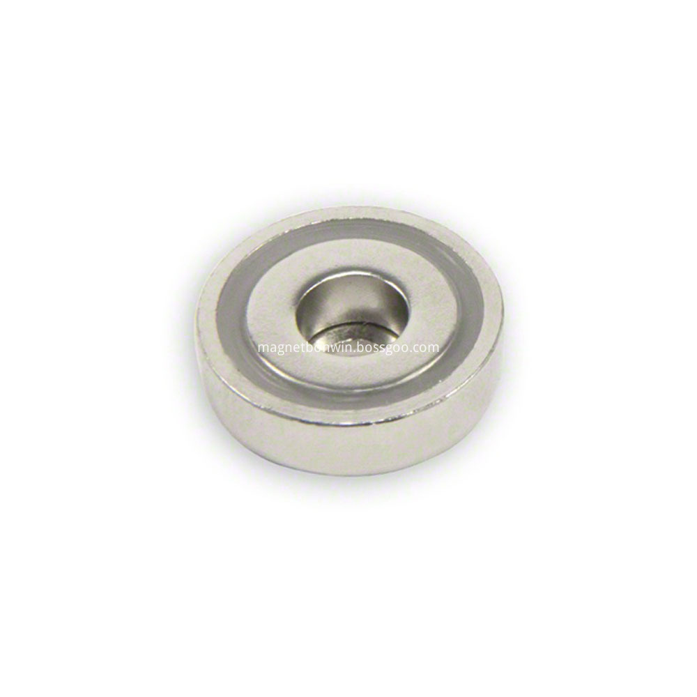 neodymium pot magnet with through hole