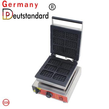 Commercial 6pcs Square Waffle Machine