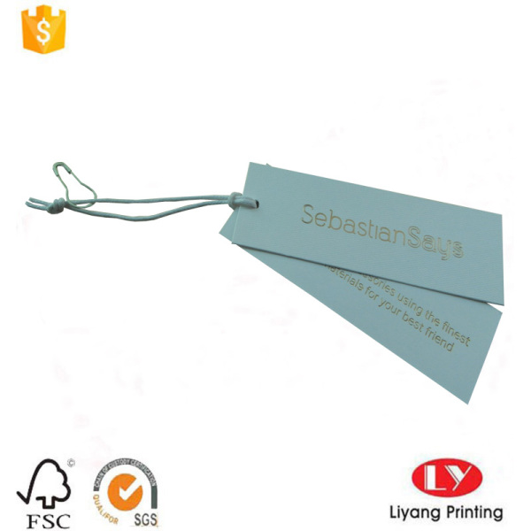 Custom paper carment swing hang tag printing
