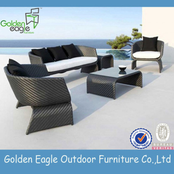 Leisure Sofa Set with Durable Uv-resistant Wicker