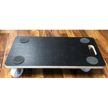 4-wheel moving board dolly sliders with GS polywood