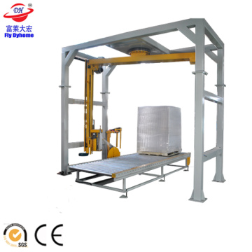 Automatic rotary arm wrapping machine for pallet wrapping
