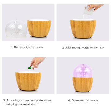 Aroma Essential Oil Diffuser (Wood and Glass)