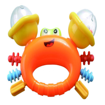 Infant Rattle Cute Crab shape baby bell toy