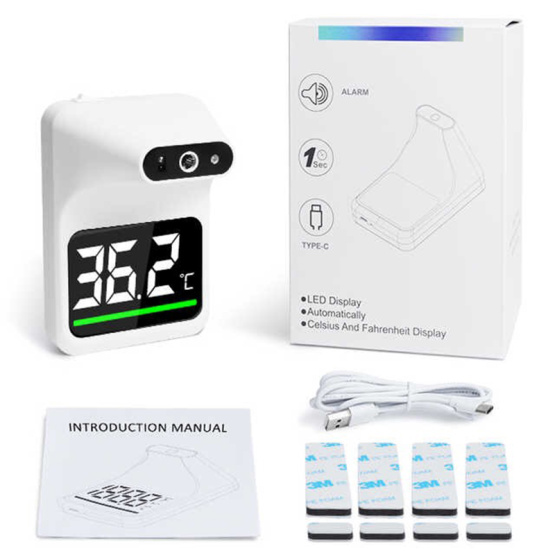 Wholesale Price Automatic Scanner Wall Mounted Digital Thermometer with Digital LCD display