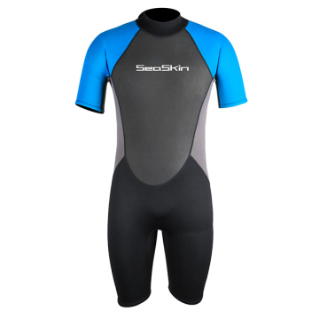 Seaskin Shorty Wetsuit Men 3mm For Scuba Diving