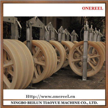 mounted pulleys block for wire rope