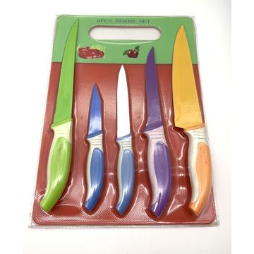 6pcs coating blade kitchen knife set
