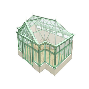Garden Sunroom House Frame System Aluminum Greenhouse