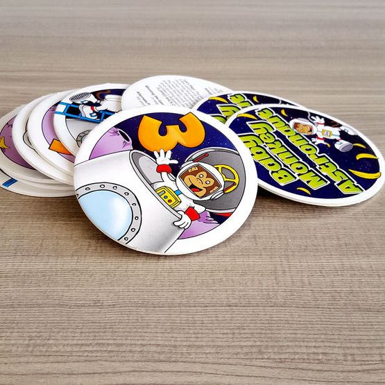 Custom print round mini memory card game