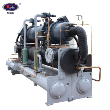 Twin head water cooled screw chiller