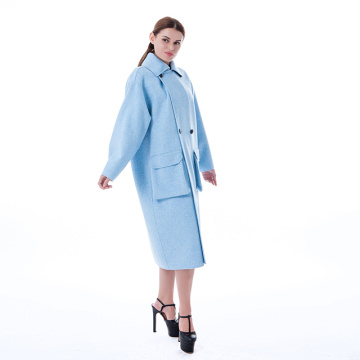 New blue  cashmere overcoat