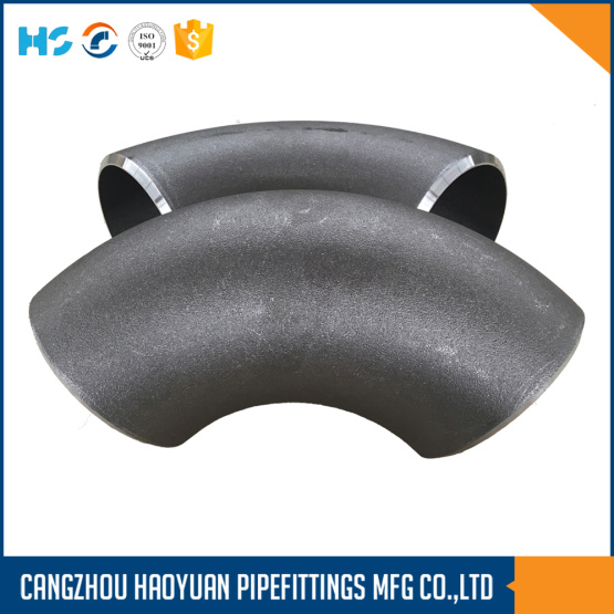 Blak Painting Belved End Pipe Fitting Elbow