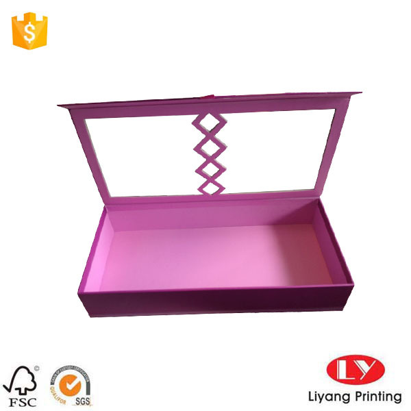 Pink Cardboard Gift Boxes with Clear Window