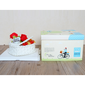 Square cake paper box packaging