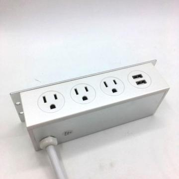 Under desk USB ports power strip
