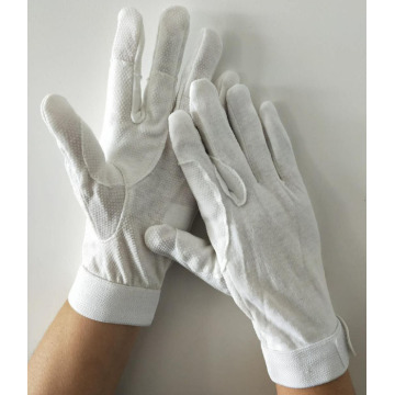 White Cotton Gloves with Grip