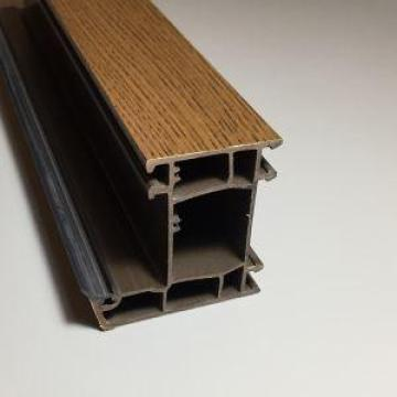Sliding PVC Profiles Laminated With Golden Oak Film