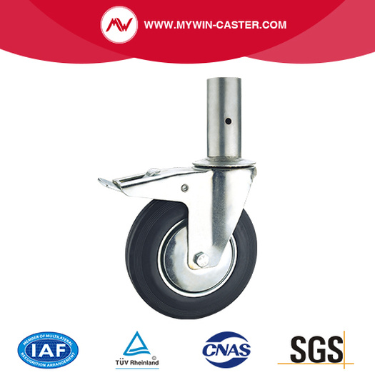 Rubber Round Stem Scaffolding Caster