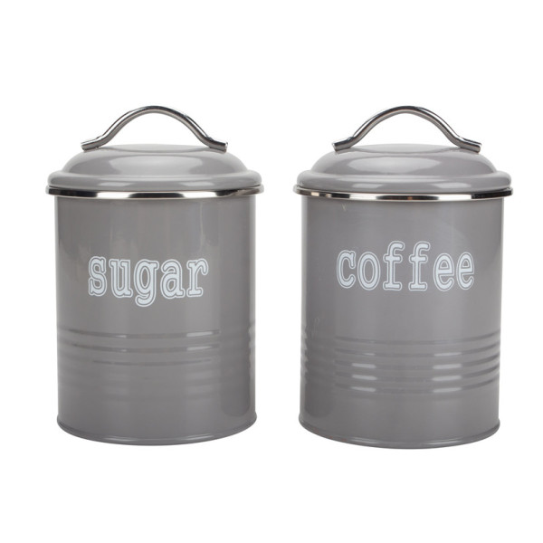 Round Tea Sugar and Coffee Storage Canister