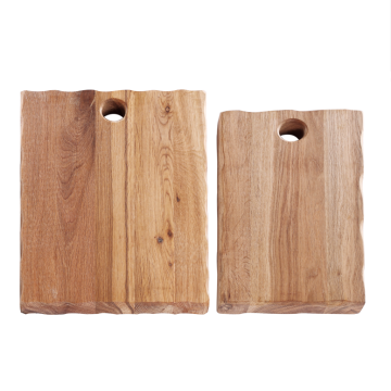 Wood chopping board with portable hole