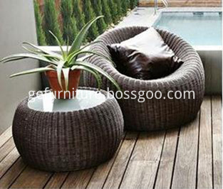 Bistro Rattan Chair and Table
