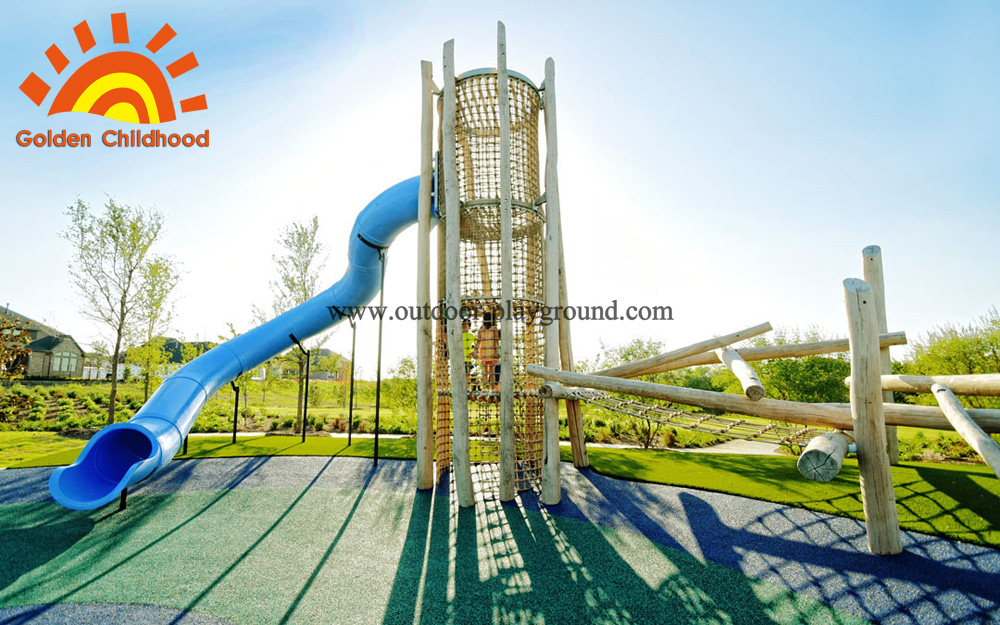 wooden tower playground for kids