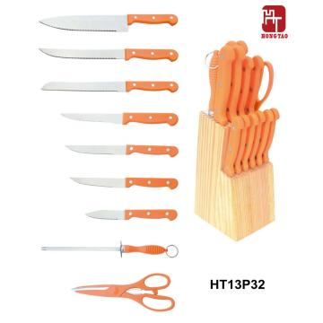 wood block kitchen knife set sale