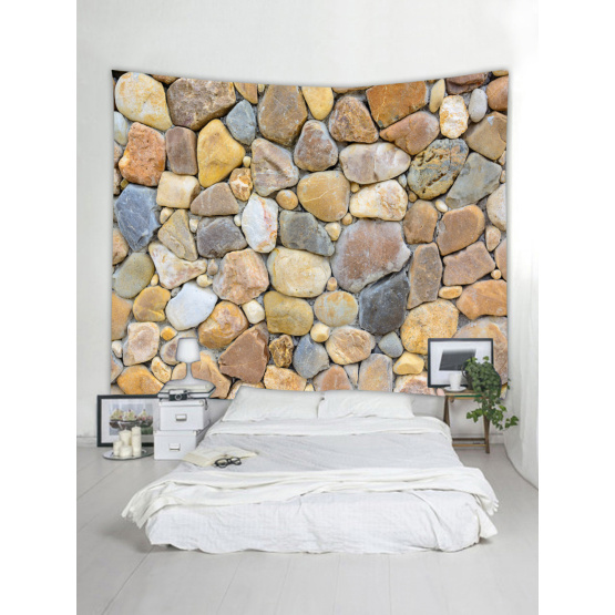 Cobblestone Wall Tapestry Nature Tapestry Wall Hanging Polyester 3D Print Tapestry for Livingroom Bedroom Home Dorm Decor