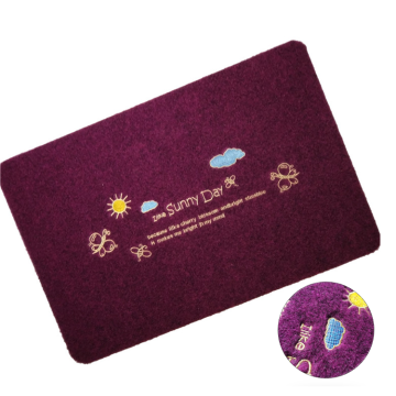 Customized embroidered logo 100% polyester outdoor mats