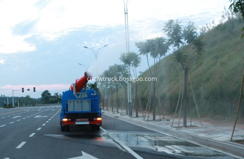 pesticide spraying truck in action 3