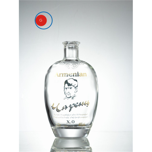 Antique Round Shape XO Super Crystal Glass Bottle
