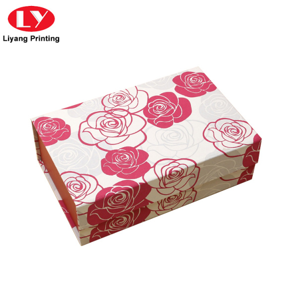 Handmade Cardboard Storage Magnetic Folding Box with Lid