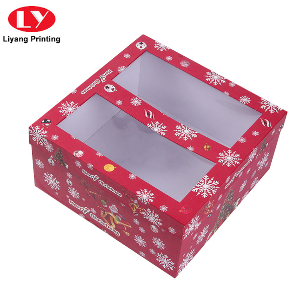 Custom Shape Christmas Tree Gift Box with Window