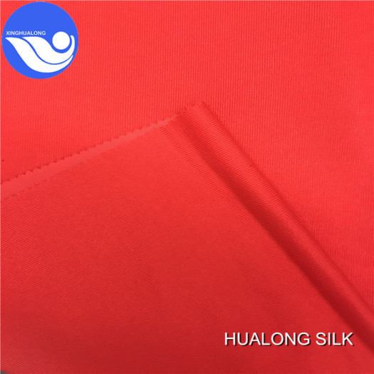 In stock lot tricot brushed polyester knit fabric