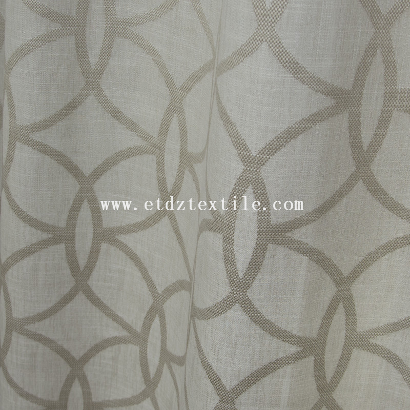 2015 Top Sell Linen Jacquard Piece Dyed Curtain Fabric  6005-55