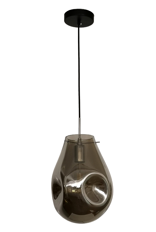 Glass Lamp Grey
