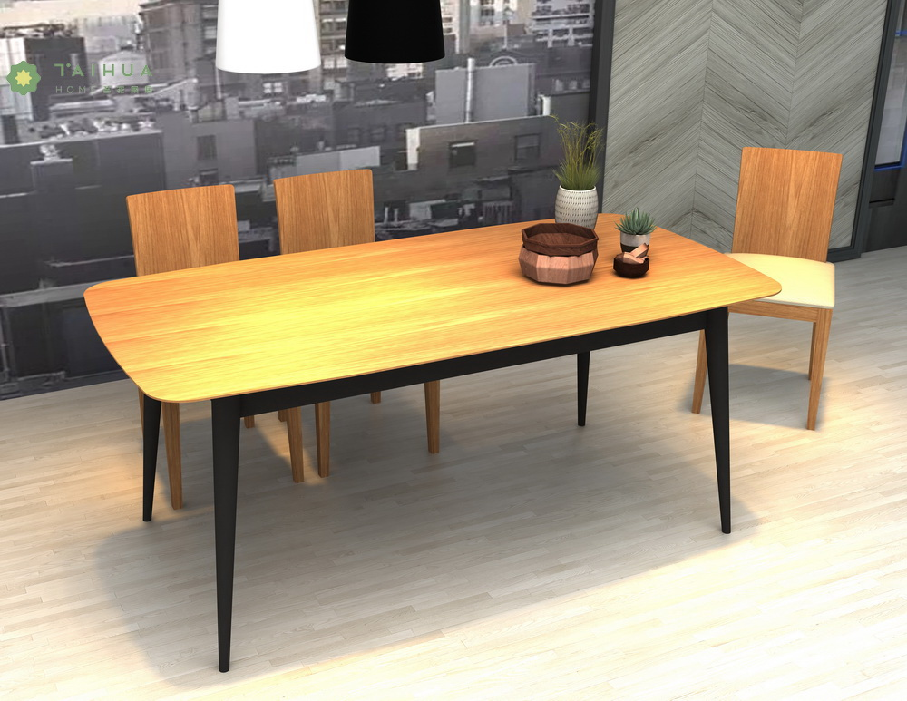 Light Walnut Dining Table