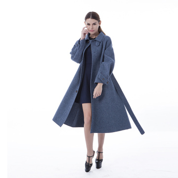 Damp ink blue cashmere coat