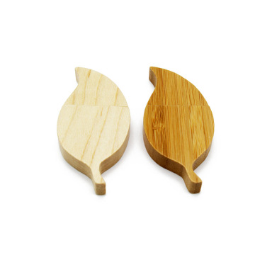 Wooden Leaf usb flash drive