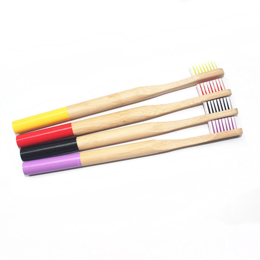 Charcoal Natural Bamboo Wood Handle Toothbrush