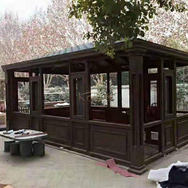 Prefab Modern House Glass Prefabricated Aluminium Sunroom