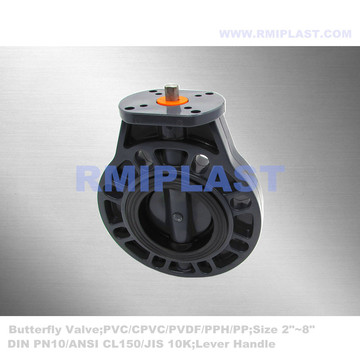 PVC Butterfly Valve For Electric Actuator Install